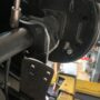 removal of the original shock mount on the axle