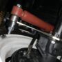 new spacer plate showing location for lower shock mount